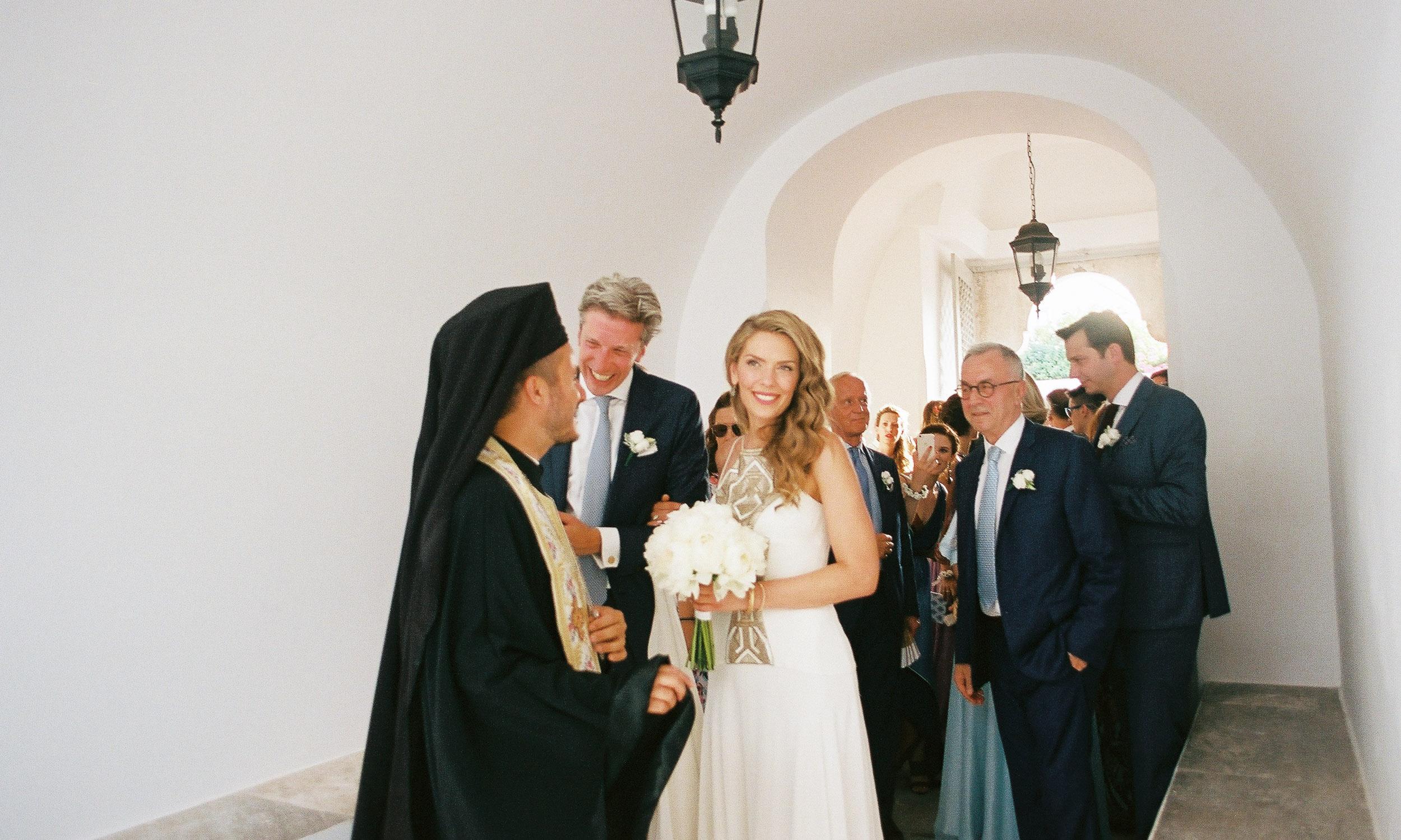 Elegant wedding film photography in Spetses island Greece