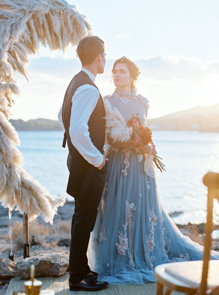 Elegant wedding film photography inspiration in Athens and the Greek islands in Greece