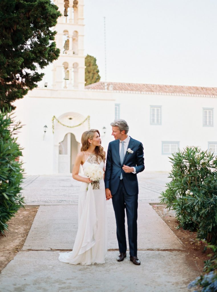 Elegant wedding film photography in Spetses island Greece