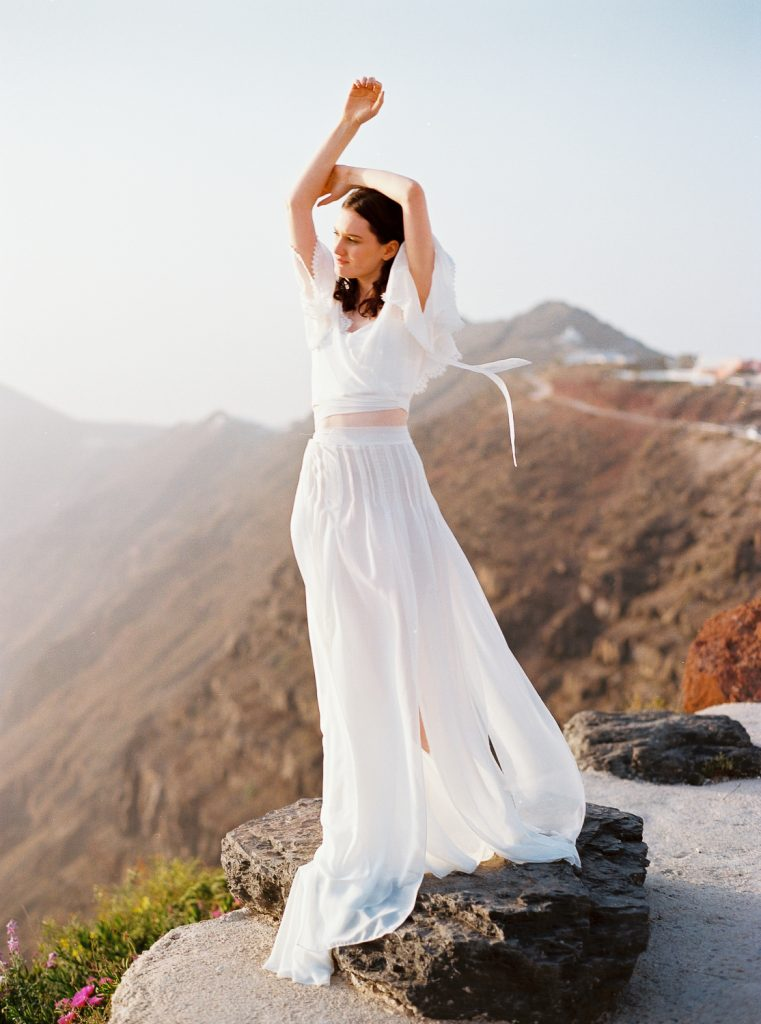 Santorini film wedding photography elopement editorial