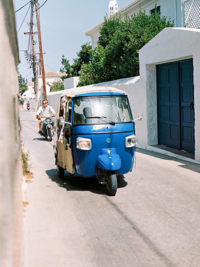 Film photography in Spetses, Greece