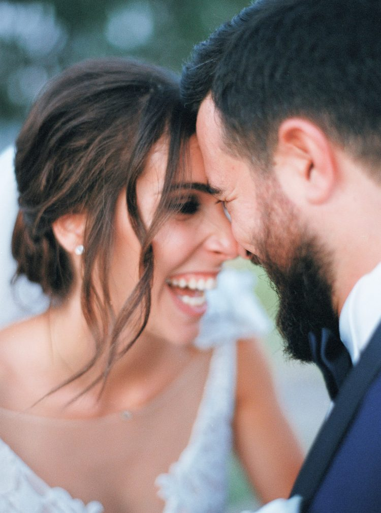 Elegant destination wedding in Aegina island in Greece
