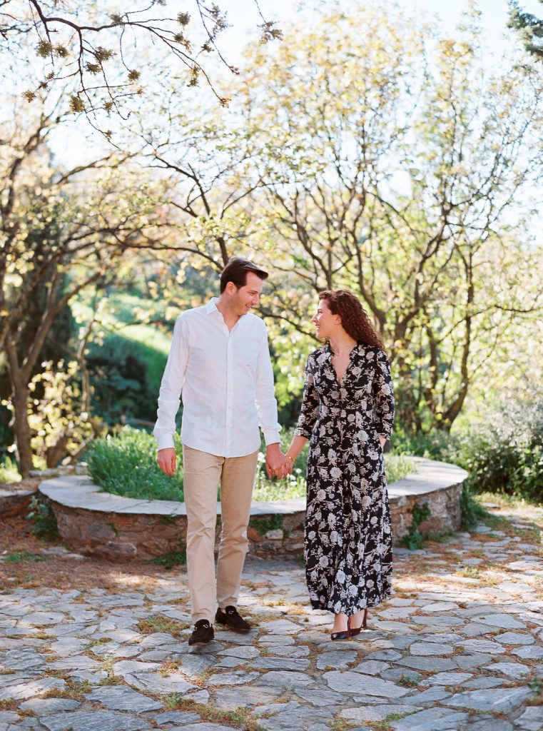 Delicate and Romantic Engagement in Athens
