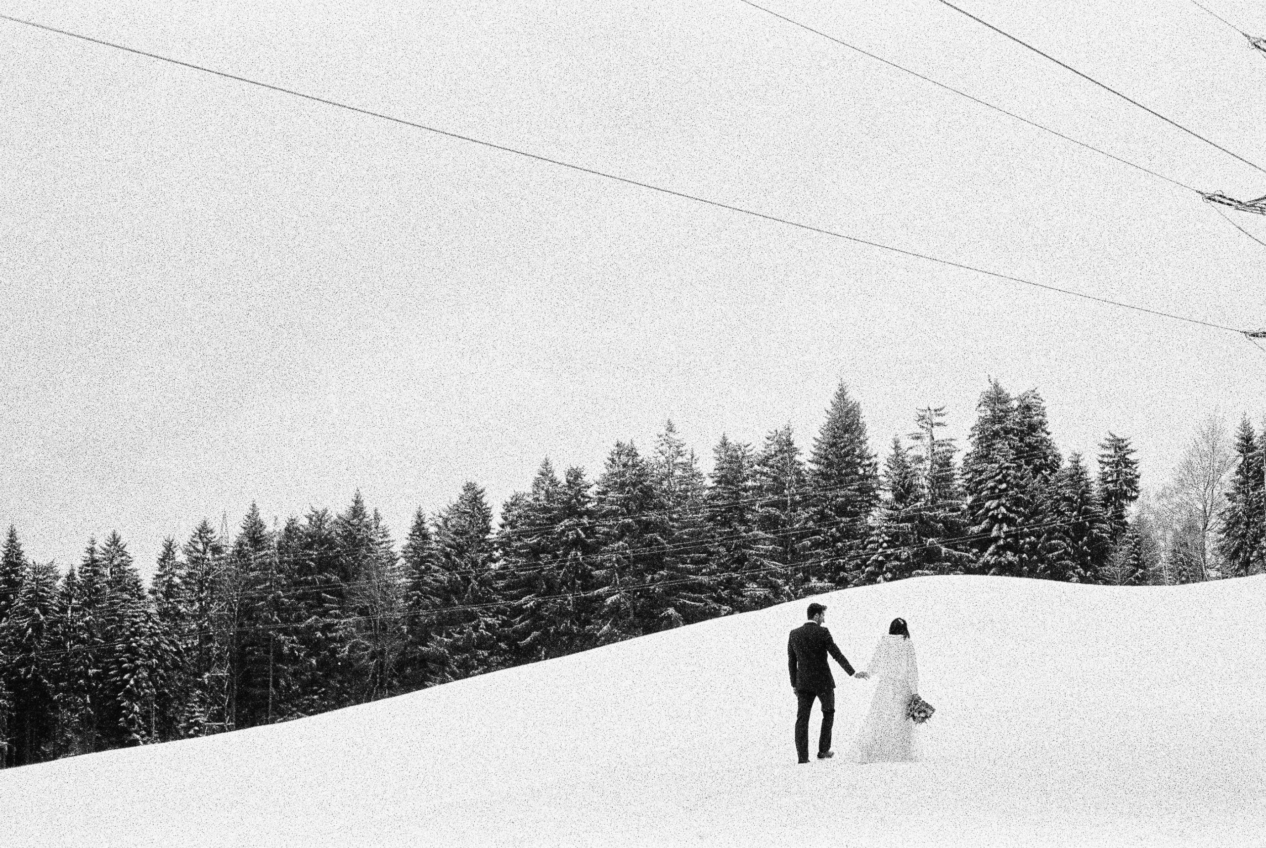 Austria winter elopement snow mountains